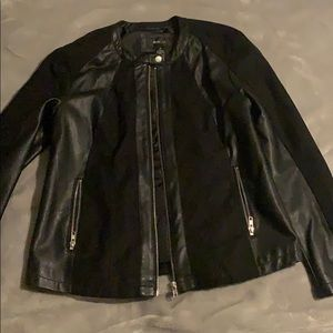 Leather and suede type jacket